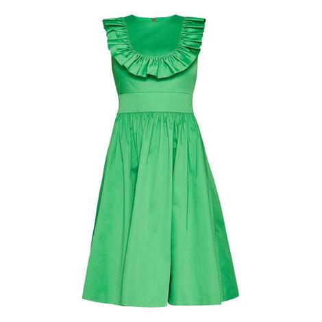 Awrah A-Line Ruffle Bib Midi Dress, ${color}