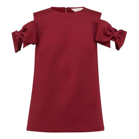 Mendoll Bow Sleeve Cold Shoulder Top, ${color}