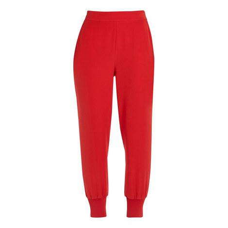 Neena Pleat Hem Crêpe Jogger Trousers, ${color}