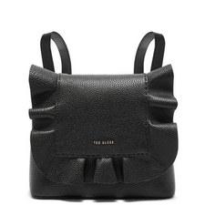 Rammira Leather Ruffle Multiway Backpack