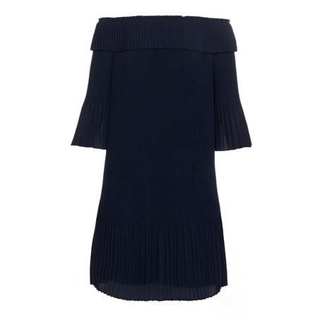 Franeis Pleated Bardot Dress, ${color}