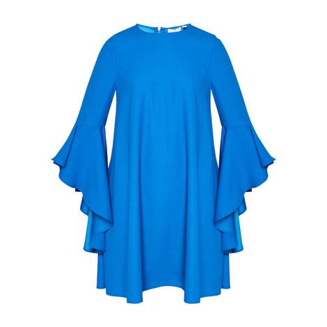 Ashleyy Waterfall Sleeve Dress, ${color}