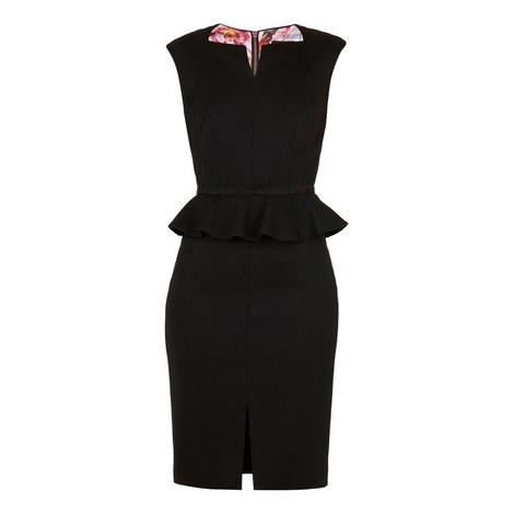 Nadae Bow Detail Peplum Dress, ${color}