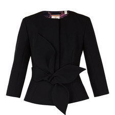 Ppolly Structured Bow Waist Jacket