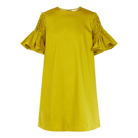 Faatima Smocked Sleeve A-Line Dress, ${color}