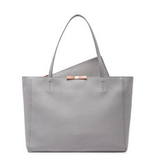 Caullie Bow Detail Leather Shopper Bag