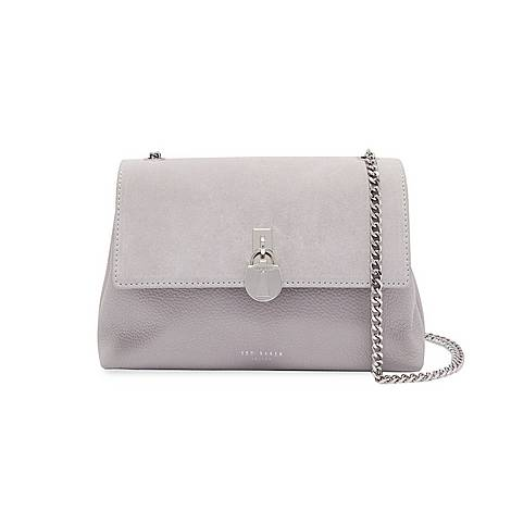 Helena Suede Padlock Crossbody Bag, ${color}