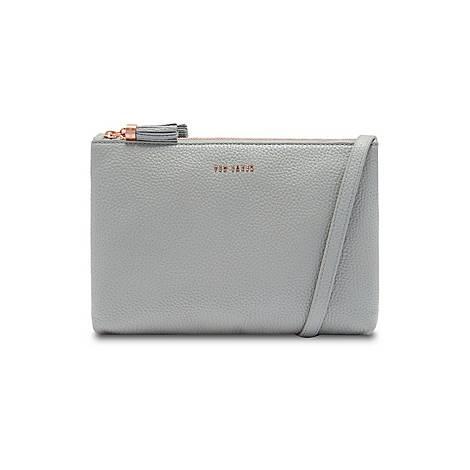 Maceyy Tassel Leather Double Zip Crossbody Bag, ${color}