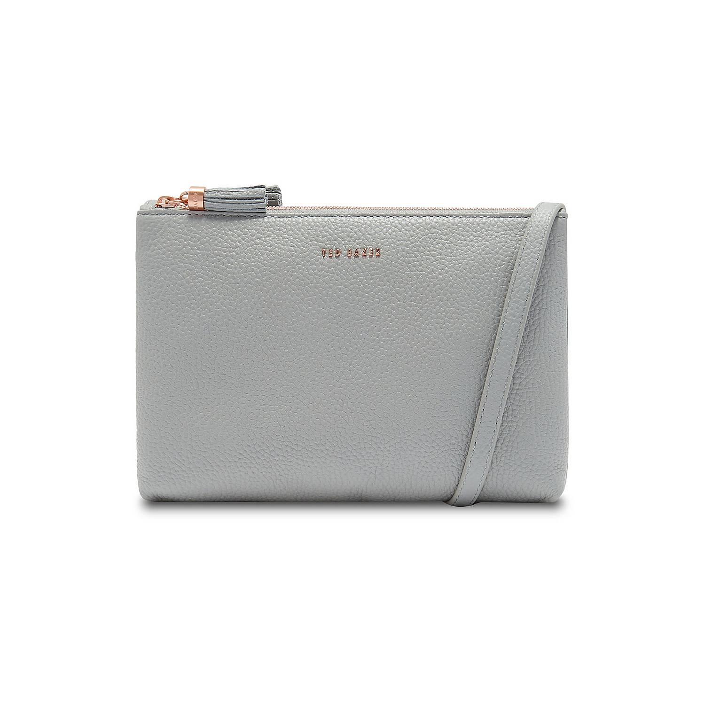 d1725f6cbe5 Ted Baker Maceyy Tassel Leather Double Zip Crossbody Bag | Brown Thomas