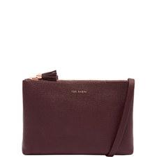 Maceyy Tassel Leather Double Zip Crossbody Bag