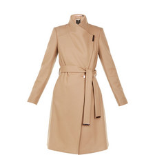 Sandra Long Wool Wrap Coat