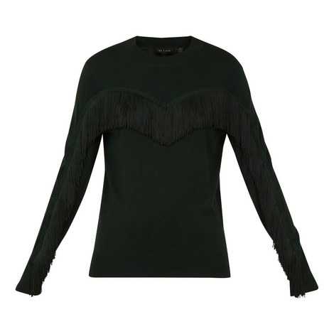 Aniebal Fringe And Ruffle Jumper, ${color}