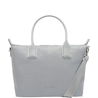 Ciscki Croc Embossed Tote Bag Small
