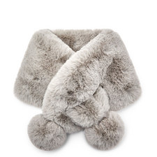 Zalie Faux Fur Pom Pom Snood