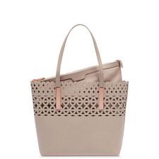 Sylviee Cut-Out Leather Shopper Bag