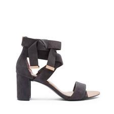 Noxen2 Suede Strap Detail Bow Sandals