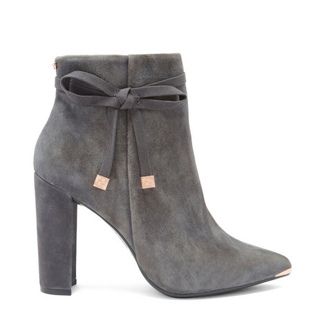 Qatena Suede Bow Detail Ankle Boots, ${color}