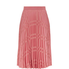 Kkoreli Pleated Satin Midi Skirt