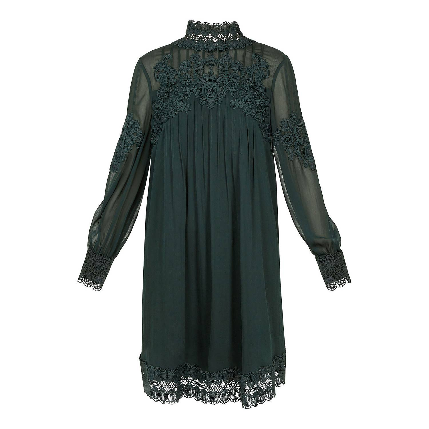 e8d35fa76c6 Ted Baker Anneah High Neck Lace Tunic Dress | Brown Thomas