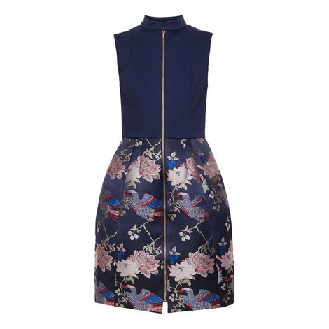 Bobyd Chinoiserie Jacquard Zipped Dress, ${color}