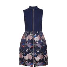 Bobyd Chinoiserie Jacquard Zipped Dress