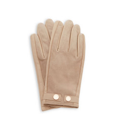 Ssue Suede Detail Leather Gloves