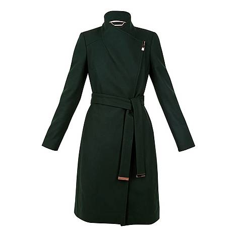 Sandra Long Wool Wrap Coat, ${color}