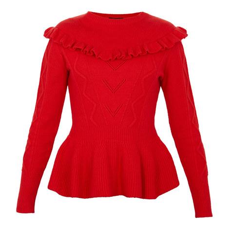 Elsahi Peplum Sweater, ${color}