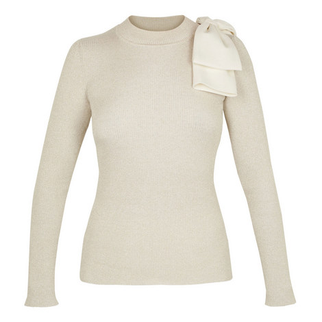 Saaydie Lurex Bow Detail Sweater, ${color}