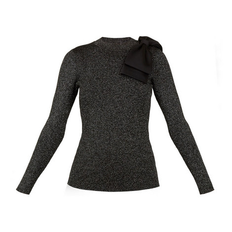 Lizziia Sparkle Yarn Sweater, ${color}
