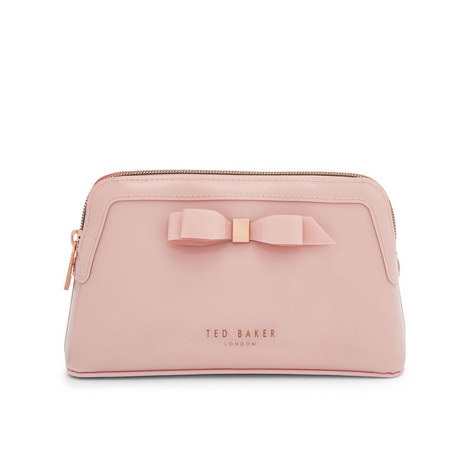 Cahira Bow Makeup Bag, ${color}