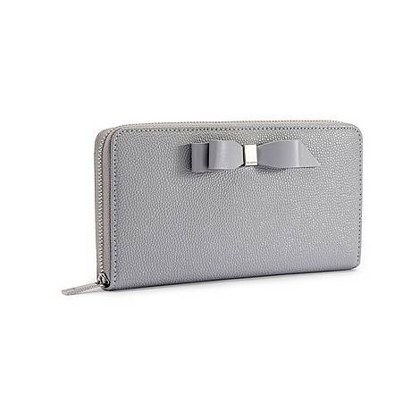 Aine Bow Zip Around Matinee Purse, ${color}