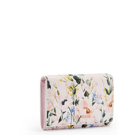 Esma Elegant Leather Small Zip Purse, ${color}