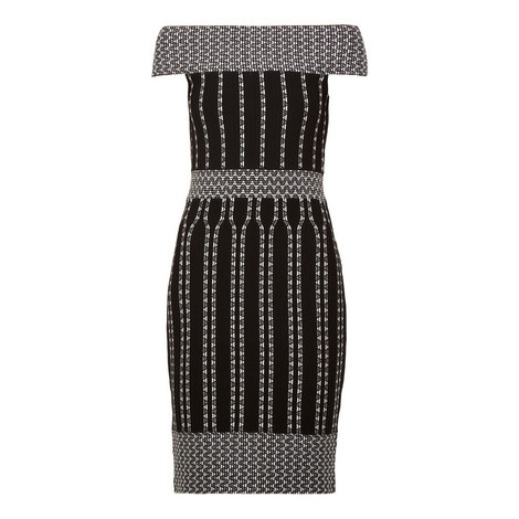 Yolini Stripe Jacquard Bodycon Dress, ${color}