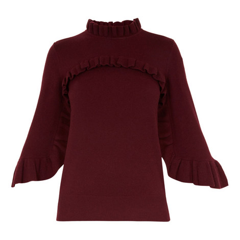 Freeida Frill Detail Bell Sleeve Sweater, ${color}