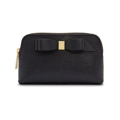 Emmahh Bow Leather Mini Makeup Bag, ${color}