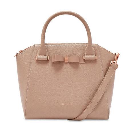 Janne Bow Detail Zip Tote Bag, ${color}