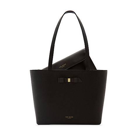 Jjesica Bow Detail Shopper Bag, ${color}