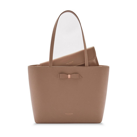 Jjesica Bow Detail Shopper Bag, ${color}