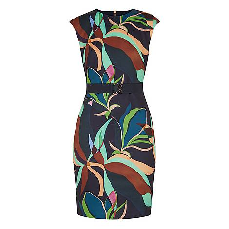Adilyyn Supernatural Structure Bodycon Dress, ${color}