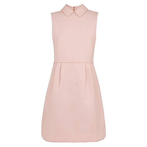 Ezzy Curved Hem Scallop Detail Dress, ${color}