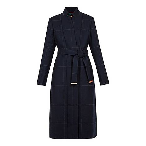 Samntha Checked Trench Coat, ${color}