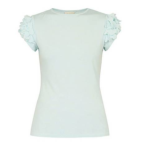 Blere Floral Applique Sleeve Tee, ${color}