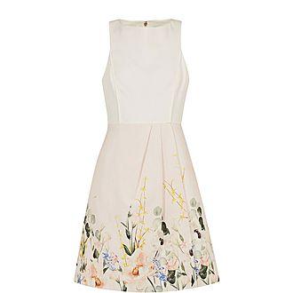 Kalla Elegant Full Skirt Dress