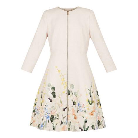 Luluuu Elegant Textured Dress Coat, ${color}