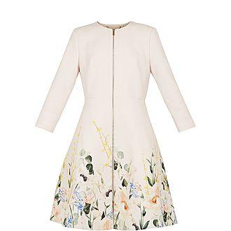 Luluuu Elegant Textured Dress Coat