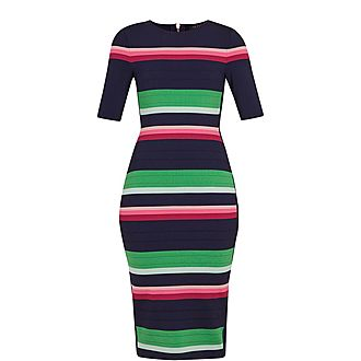 Iviie Stripe Knitted Dress
