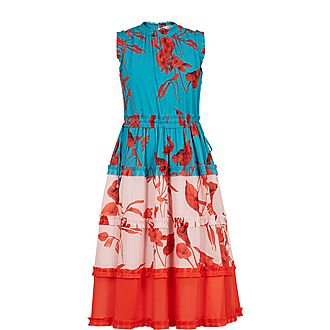 Kamelis Fantasia Tiered Midi Dress