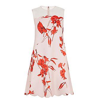 Jaazmin Fantasia Scallop Mini Dress