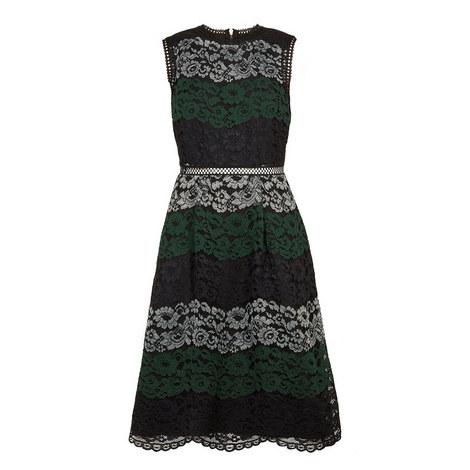 Inarra Colour Block Lace Dress, ${color}